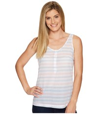 Columbia Sun Drifter Tank Top Harbor Blue Stripe Women's Sleeveless