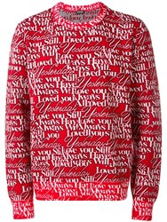 Balenciaga Loved Crew Neck Sweater Red