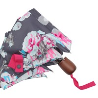 Joules Floral Print Umbrella Grey Multi