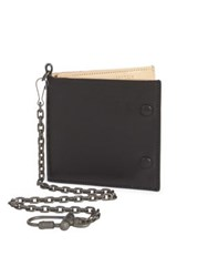 Maison Martin Margiela Calf Leather Wallet And Chain Black