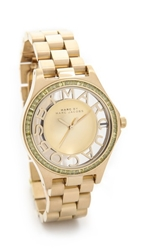 Marc By Marc Jacobs Henry Skeleton Glitz Watch Gold