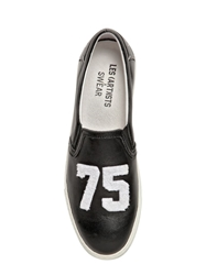 Les Art Ists X Swear Smooth Leather Slip On Sneakers Black