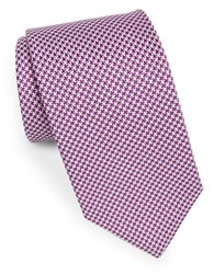 Brooks Brothers Classic Houndstooth Tie Purple