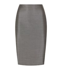Max Mara Leale Pencil Skirt Female Grey