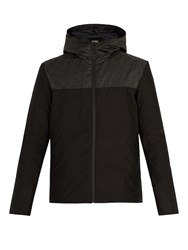 Fendi Printed Padded Shell Jacket Black
