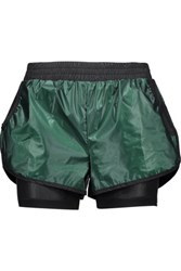 Koral Scout Layered Coated Shell And Mesh Shorts Forest Green