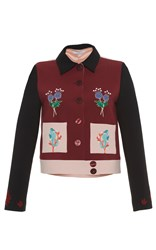 Vivetta Woodonga Embroidered Jacket Multi