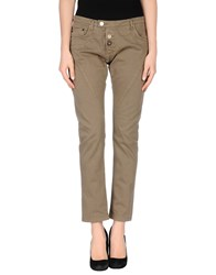 Takeshy Kurosawa Trousers Casual Trousers Women Khaki