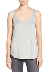 Women's Paige Denim 'Jessa' Stretch Jersey Tank Light Heather Grey