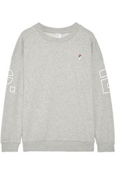 P.E Nation Danny French Cotton Terry Sweatshirt Gray