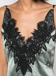 Dorothee Schumacher Lace Embroidered Camisole Top Blue