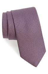 Eton Men's Geometric Silk Tie Pink