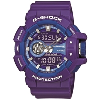 Casio G Shock Ga 400A 6Aer Mono Colour Watch Purple