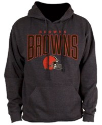 Nfl Authentic Apparel Men's Cleveland Browns Defensive Line Hoodie Heather Charcoal