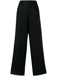 Yves Saint Laurent Vintage Palazzo Trousers Black