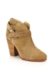 Rag And Bone Harrow Suede Bootie Espresso Camel Light Grey
