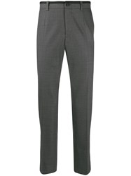 Dolce And Gabbana Contrast Trim Tailored Trousers Grey