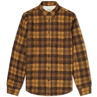 Acne Studios Sarkis Woven Check Shirt Brown