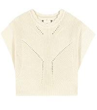 Isabel Marant Cotton And Wool Sweater Neutrals