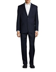 Lauren Ralph Lauren Two Button Wool Suit Set Navy