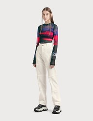 Ambush High Waisted Denim Pants White