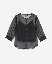 The Kooples See Through Black Rock Style Top W Camisole