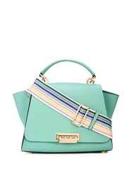 Zac Posen Eartha Convertible Backpack With Rainbow Strap Green