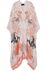 Meng Printed Silk Satin Kaftan Blush