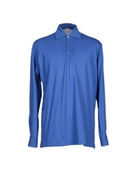 Fedeli Topwear Polo Shirts Men Azure