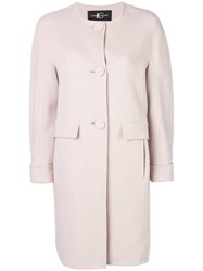 Luisa Cerano Classic Single Breasted Coat Pink