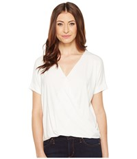 Culture Phit Megan Crossover Short Sleeve Top Off White Women's Clothing