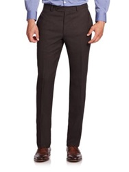 Saks Fifth Avenue Wool Trousers Dark Brown