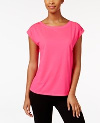 Ideology Mesh Back Top Only At Macy's Molten Pink
