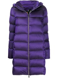 Rrd Quilted Coat Purple