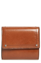 Treasure And Bond Tracy Leather Trifold Wallet Brown Brown Toffee