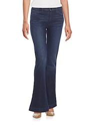 7 For All Mankind Mid Rise Flared Jeans Cherry Blossom Blue
