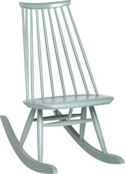 Artek Mademoiselle Rocking Chair Sage Green Lacquered Black White