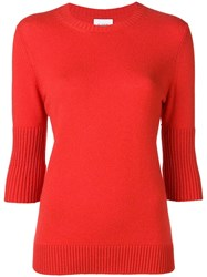 Barrie Classic Cashmere Sweater Red