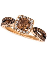 Le Vian Chocolatier Diamond Engagement Ring 1 1 5 Ct. T.W. In 14K Rose Gold Yellow Gold