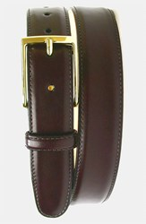 Men's Big And Tall Martin Dingman 'Smith' Leather Belt Burgundy