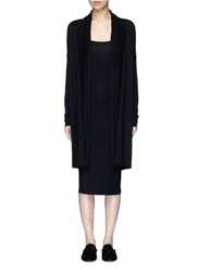 The Row 'Judin' Merino Wool Cashmere Cardigan Black