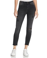 Mavi Jeans Alissa Ankle High Rise Super Skinny In Smoke Ripped Nolita