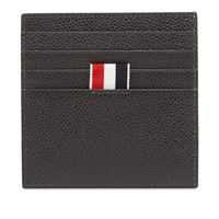 Thom Browne Pebble Grain Single Card Holder Black