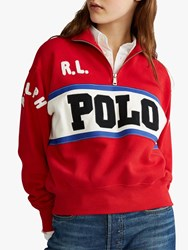 Ralph Lauren Polo Logo Sweatshirt Charter Red