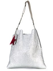 Golden Goose Deluxe Brand The Carry Over Hobo Bag Grey