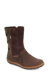 Merrell Women's Ashland Vee Waterproof Bootie Brown Leather