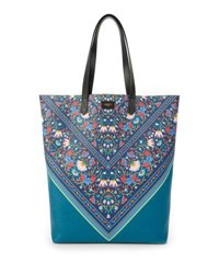 Liberty London Lodden Chevron Floral Tote Bag Multi Pattern