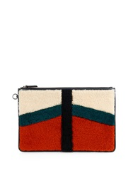 Jerome Dreyfuss Popoche Shearling And Suede Pouch