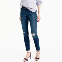 J.Crew Petite Distressed Toothpick Jean In Pamona Wash