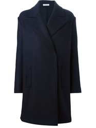 Tomas Maier Double Breasted Coat Blue